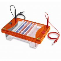 Gel Tank Horizontal Clarit-E Choice with 15x15cm gel tray 2 combs of your choice and casting dams For electrophoresis of DNA in agarose gels