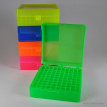 Rack 100-Position Freezer Rack Hinged Lid 10 x 10 Array Pink Temperature -90C to 120C Pack of 5 Fits 1.5ml 2.0ml Microtubes or 1.2ml Cryovials
