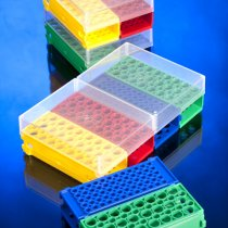 Rack Twin Twist PCR reversible racks which can slot together in multiple formats for 2, 1.5, 0.5 and 0.2ml tubes, strip tubes or PCR plates