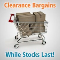 Clearance Stock<br>Save 50% Whilst Stocks Last</br>