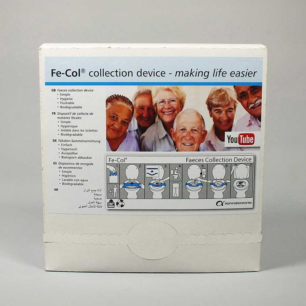 Faeces Collection Paper Fe Col With Instructions For Use In