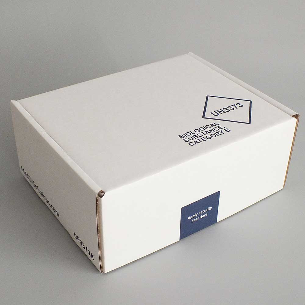sample transport box for mailing of category b biological samples to
