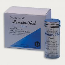 Haematocrit Tubes Glass 75mm HEMATO-CLAD® Mylar® wrapped capillaries Plain 5 vials of 200 capillaries for blood collection