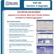 Software and hardware upgrade for PAP 8 Platelet Aggregation Profiler systems, BioData