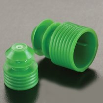 Caps Flanged Plug 12mm Green for sealing 12mm diameter test tubes and round cuvettes and centrifuge tubes