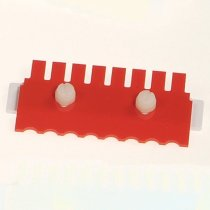 Gel Comb 8 well 1.5mm thick for Clarit-E Mini electrophoresis system Used for casting agarose gels Sample volume in a 5mm thick gel is 37µl