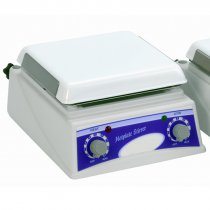 Hotplate Magnetic Stirrer 19x19cm with chemical resistant top plate and simple speed and temperature adjustment