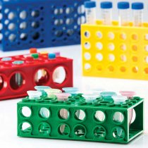 Rack 4-Way Midi Combirack Assorted Colours Autoclavable Pack of 4 With 4 orientations to accommodate Midi Centrifuge tubes and 0.5ml - 50ml Tubes