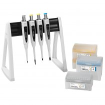 Pipette Manual 4-Pack Multipack Variable Volume Proline® Plus 0.5-10µl 2-20µl 20-200µl and 100-1000µl Sartorius with Tips and Linear Stand