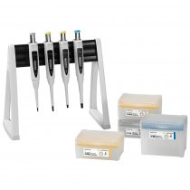 Pipette Manual 4-Pack Multipack Variable Volume Proline® Plus 0.5-10µl 10-100µl 20-200µl and 100-1000µl Sartorius with Tips and Linear Stand