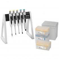 Pipette Manual 5-Pack Multipack Variable Volume Proline® Plus 2-20µl 10-100µl 20-200µl 100-1000µl 500-5000µl Sartorius with Tips and Linear Stand
