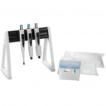 Pipette Manual 3-Pack Max Multipack Variable Volume Proline® Plus 100-1000µl 500-5000µl and 1-10ml Sartorius with Tips and Linear Stand