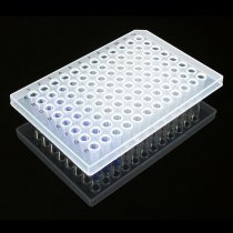 Microplate PCR 96 well semi-skirted standard height straight sided natural colour RNAse DNAse DNA DNA inhibitors and endotoxin free