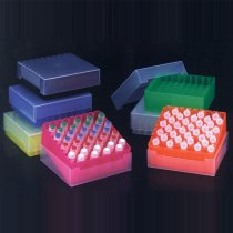 Rack 81-Position Freezer Rack with Lid 9 x 9 Array Assorted Colours Temperature -90C to 120C Pack of 5 Fits 1.5ml 2.0ml Microtubes or 1.2ml Cryovials
