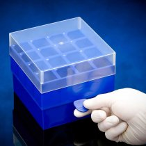 Rack 16-Position 50ml Freezer Rack with Lid 4 x 4 Array Blue Temperature -90C to 120C Pack of 2 Fits 50ml Centrifuge Tubes with 30mm maximum diameter