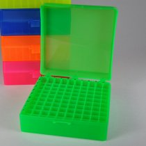 Rack 100-Position Freezer Rack Hinged Lid 10 x 10 Array Green Temperature -90C to 120C Pack of 5 Fits 1.5ml 2.0ml Microtubes or 1.2ml Cryovials