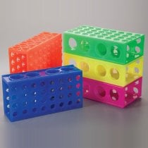 Rack 4-Way Interlocking Combirack Assorted Colours Autoclavable Pack of 5 With 4 orientations to accommodate 0.5ml 1.5ml 2.0ml 15ml and 50ml Tubes