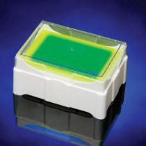 Rack IsoFreeze® MCT colour change cooler rack green/yellow for up to 24 microcentrifuge tubes 0.5, 1.5 or 2.0ml volume for sample preparation