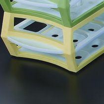 Rack 18 Position Yellow MultiRack for Tubes up to 30mm Diameter Durable Acetal Lightweight and Stackable 3 Tiers for Tube Stability 293 x 115 x 65mm