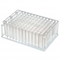 Microplate 96 Deep V-well Plate 2.2ml Capacity 8.3mm Square Aperture Conical Bottom Polypropylene Non-Sterile Alpha-numerical indexing Pack of 10