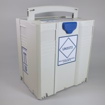 Transport Box MedDXTainer 5 UN3373 regulatory marked stackable and lockable for transport of multiple category B medical samples