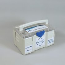 Transport Box Mini 3 UN3373 regulatory marked stackable and lockable for transport of multiple category B medical samples