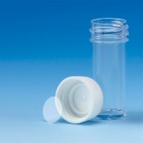 Bijou Container 7ml Polystyrene with Polypropylene Leak-Proof Screw-Cap Aseptically produced No Label Pack of 700 for sample collection
