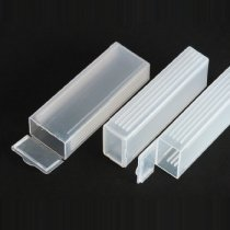 Slide Mailer Cases for up to 5 glass microscope slides measuring 76 x 26mm. Snap seal lid with internal ridges to keep slides separated