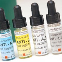 Anti-AB Monoclonal (Blend of clones-LA2 LB2 ES15) sera for manual typing method.  10 x 10 ml