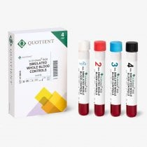 Whole Blood control automated Blood grouping methods 4 different blood groups/ antibodies 4 x 6 ml ALBAcheck®-BGS Whole Blood SP control Quotient